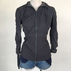 Lululemon size S reversible gray zip up jacket